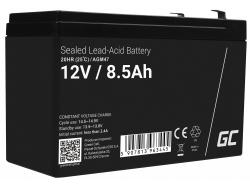 AGM Batería Gel de plomo 12V 8.5Ah Recargable Green Cell para el inversor y la monitorización