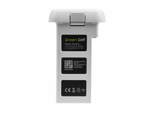 Drone Battery Green Cell para DJI PHANTOM 2, DJI PHANTOM VISION 2 5,2Ah 11.1V