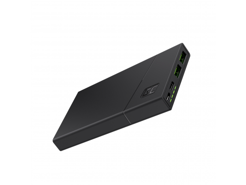 Power Bank Green Cell GC PowerPlay10 10000mAh con carga rápida 2x USB Ultra Charge y USB-C Power Delivery 18W