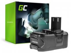 Batería  Green Cell (6Ah 18V) ONE+ RB18L50 RB18L25 para RYOBI R18AG0 R18JS0 R18PDBL RCD18022L RID1801M RMT1801M