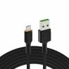 Cable Green Cell Ray USB-A - microUSB naranja LED 120cm con soporte para carga rápida Ultra Charge QC3.0
