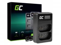 Cargador dual Green Cell ® LI-50C para Olympus LI-50B, SZ-15 SZ-16 Tough 6000 8000 TG-810 TG-820 TG-830 TG-850 VR-370 XZ-1