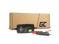 Cargador de batería automático Green Cell para Coche, Motocicleta 6 / 12V (4A) con diagnósticos inteligentes