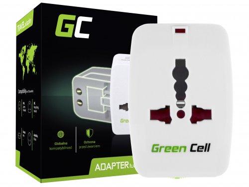 Adaptador de viaje universal Green Cell ® para enchufe EE. UU. / Reino Unido / AUS / China