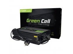 Green Cell 300W / 600W Convertidor de tensión sinusoidal pura UPS Inverter DC DC 12V a AC 230V